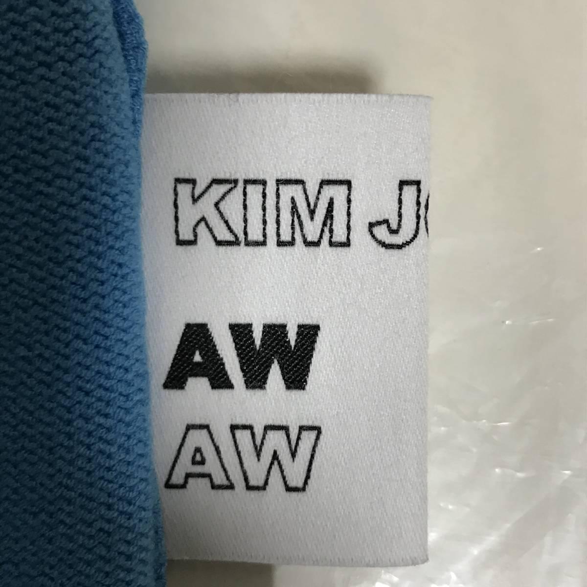 GU(ジーユー) - キム ジョーンズ(KIM JONES) カラーブロックセーター(長袖)(KJ) ブルー Lサイズ (完売品・新品未着用品)_内側サイドタグ