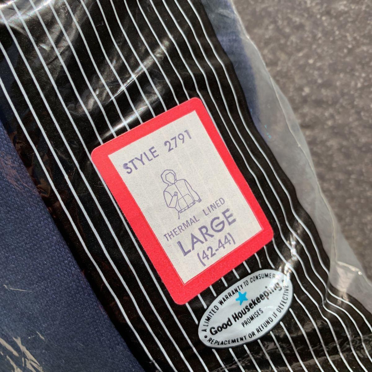 現品限り!L ネイビー ヴィンテージ 70s ヘルスニット デッドストック サーマル パーカー フルジップ healthknit made in USA_画像2