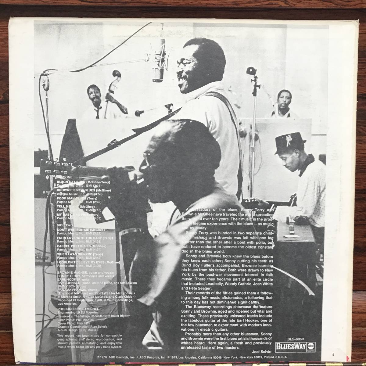 Brownie McGhee And Sonny Terry With Earl Hooker - I Couldn't Believe My Eyes/US ORIGINAL 1973 Quad_画像2