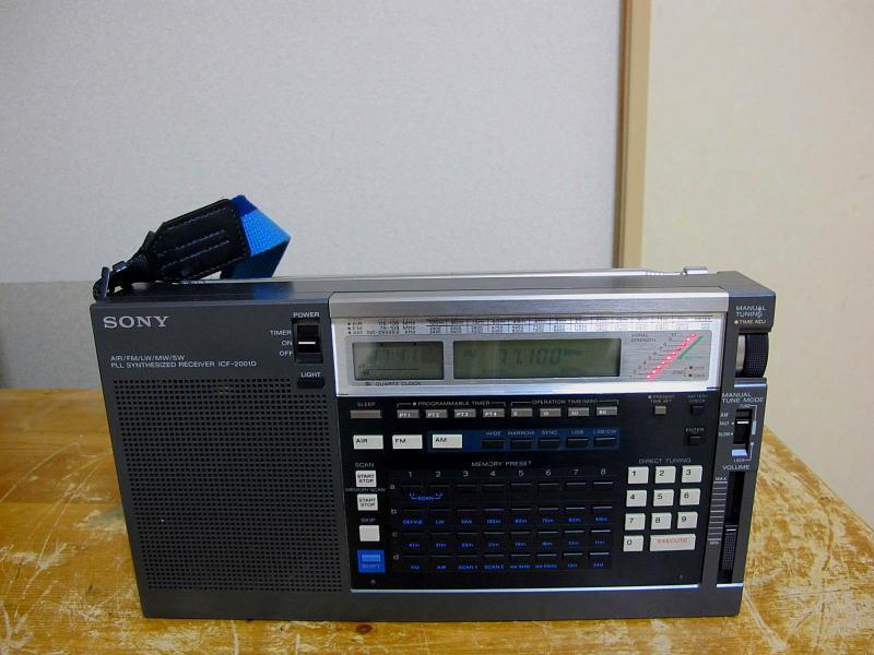 ソニーAM/FM/SWシンセサイザーチューナー、ICF-2001Dです