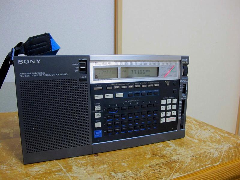 ソニーAM/FM/SWシンセサイザーチューナー、ICF-2001Dです_画像3