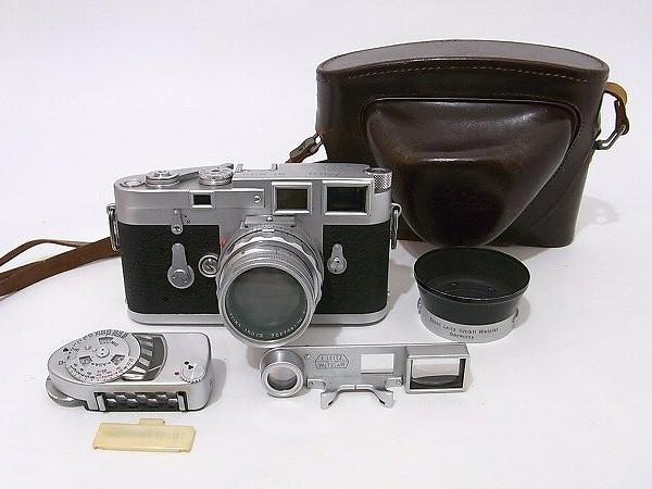 カメラ Leica ライカ M3 ダブルストローク DBP 851833 レンズ Summicron f=5cm 1:2 露出計