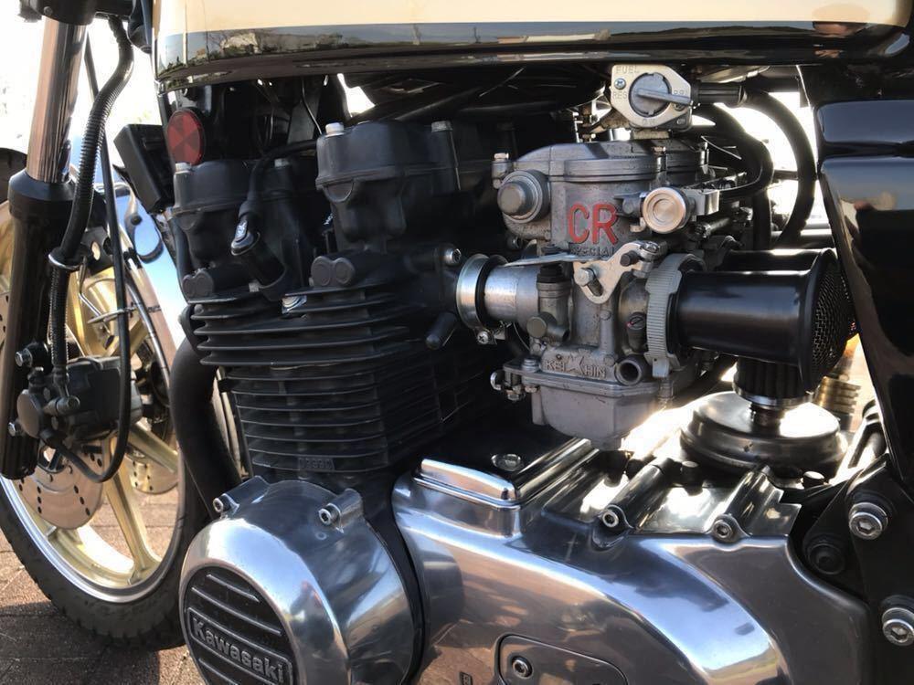 Z400FX 昭和55年4月登録 国内物 エンジン フレーム E2 モリワキ CR ロックハート 純正ダブル 風車ミラー 車検31.2.12まで _画像6