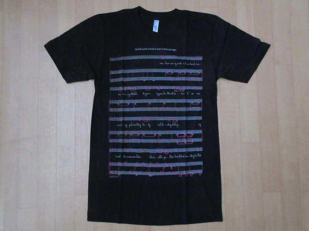 USA製 Bjork MoMA ビョーク 回顧展 Black Lake 楽譜 Tシャツ S 黒 芸術 Vulnicura ヴァルニキュラ 芸術 ART モマ 美術館 The Sugarcubes_MoMA・ビョーク回顧展・Tシャツ表面
