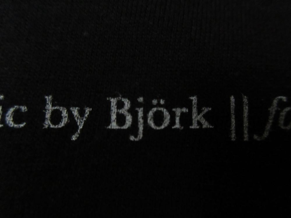 USA製 Bjork MoMA ビョーク 回顧展 Black Lake 楽譜 Tシャツ S 黒 芸術 Vulnicura ヴァルニキュラ 芸術 ART モマ 美術館 The Sugarcubes_画像7