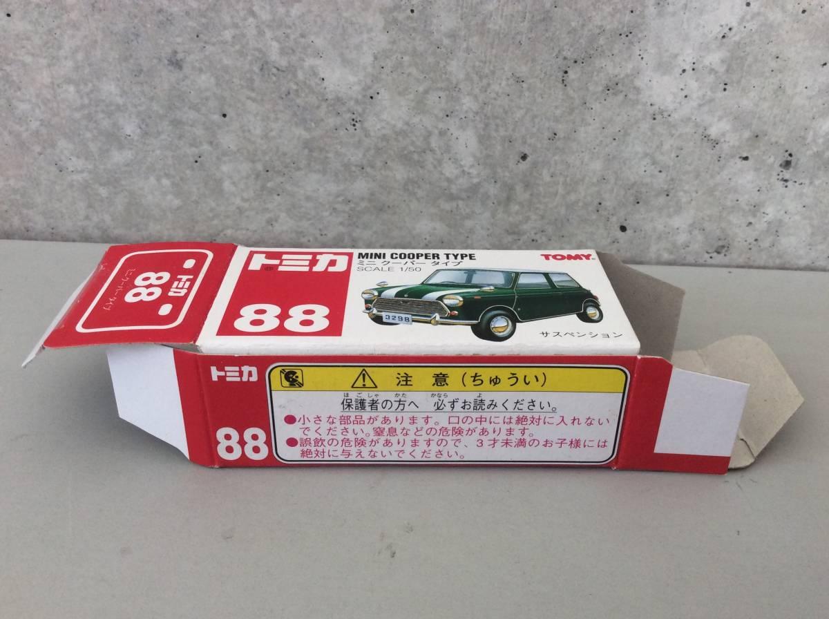 空箱だけ トミカ 88 ミニクーパータイプ MINI COOPER TYPE TOMY_画像2