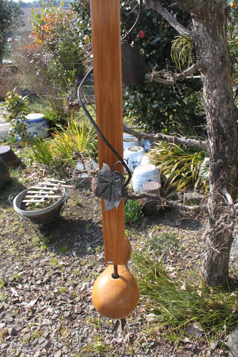 逸品 欅自在鉤 瓢箪型横木 古鉄金具 伸縮 自在鉤☆囲炉裏家具他_画像6
