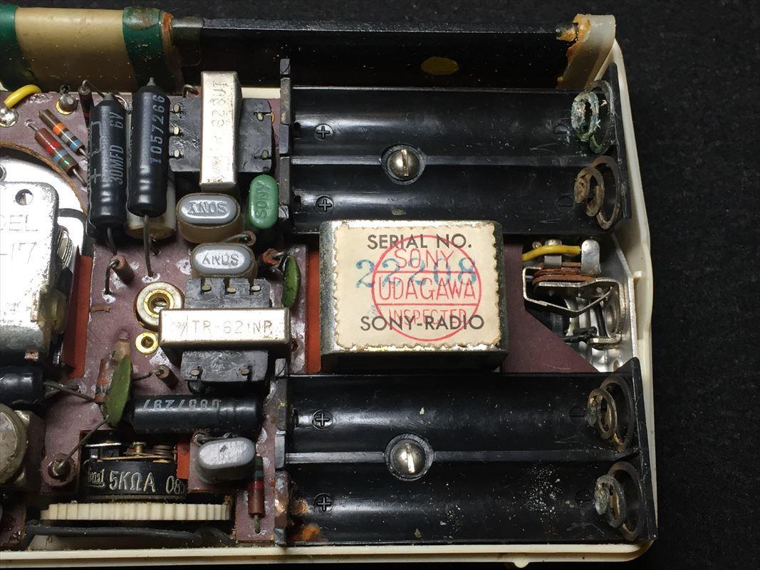 SONY ソニー TR-62 トランジスタラジオ 昭和レトロ ジャンク_画像9