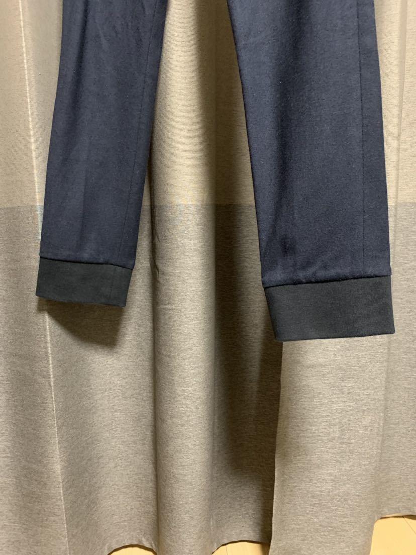 ジュンハシモトJunhashimotoウールリブパンツ カラーブラック サイズS 平置き実測(全てcm)ウエスト39股上26股下70腿幅26裾幅14.5_画像4