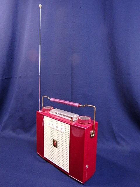 a1529 ヴィンテージ ソニー SONY MODEL TR-74 アンティーク トランジスタラジオ ジャンク扱い_画像2