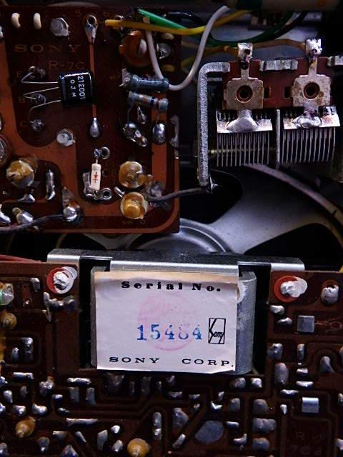 a1529 ヴィンテージ ソニー SONY MODEL TR-74 アンティーク トランジスタラジオ ジャンク扱い_画像8