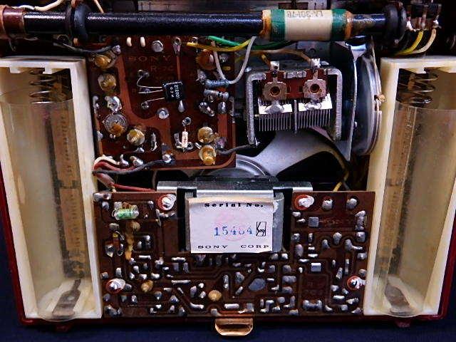 a1529 ヴィンテージ ソニー SONY MODEL TR-74 アンティーク トランジスタラジオ ジャンク扱い_画像7