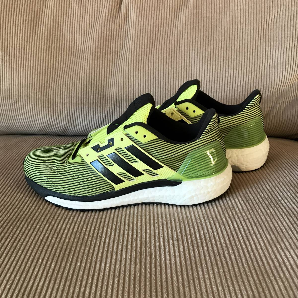 5cc8a5c308dbf beautiful goods  adidas supernova BOOST 26.5 Adidas boost running jo silver  g walking marathon shoes yellow pure