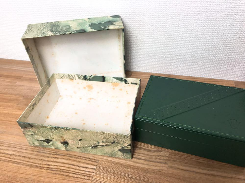 [2点セット] ROLEX ロレックス 純正 ヴィンテージ 腕時計ボックス 化粧箱 保存箱 空箱 冊子 カードケース ギャランティカード 赤・グリーン_画像7