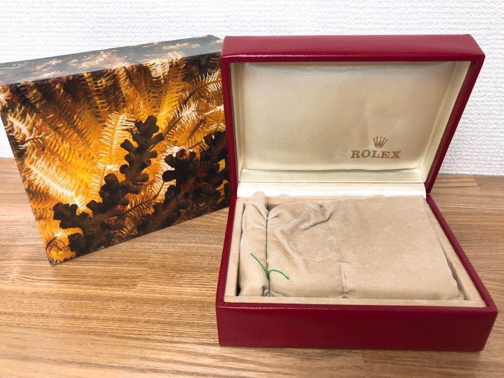 [2点セット] ROLEX ロレックス 純正 ヴィンテージ 腕時計ボックス 化粧箱 保存箱 空箱 冊子 カードケース ギャランティカード 赤・グリーン_画像3