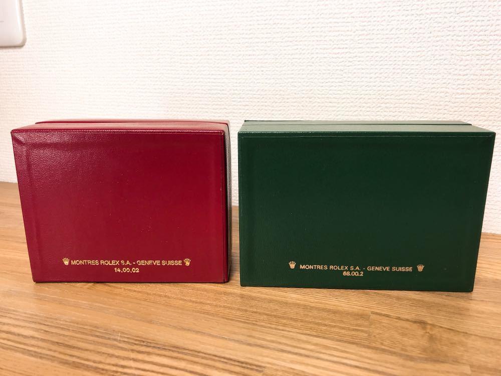 [2点セット] ROLEX ロレックス 純正 ヴィンテージ 腕時計ボックス 化粧箱 保存箱 空箱 冊子 カードケース ギャランティカード 赤・グリーン_画像10