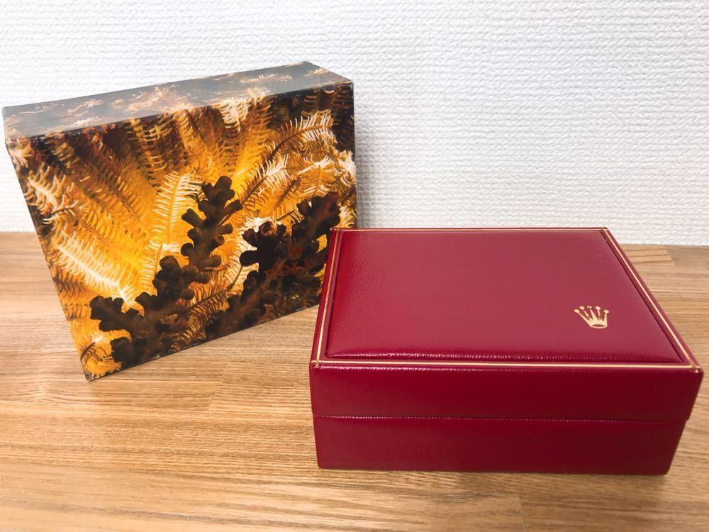 [2点セット] ROLEX ロレックス 純正 ヴィンテージ 腕時計ボックス 化粧箱 保存箱 空箱 冊子 カードケース ギャランティカード 赤・グリーン_画像2