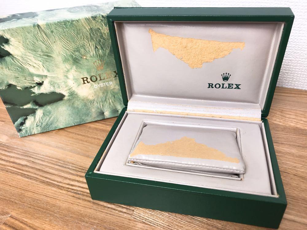 [2点セット] ROLEX ロレックス 純正 ヴィンテージ 腕時計ボックス 化粧箱 保存箱 空箱 冊子 カードケース ギャランティカード 赤・グリーン_画像6