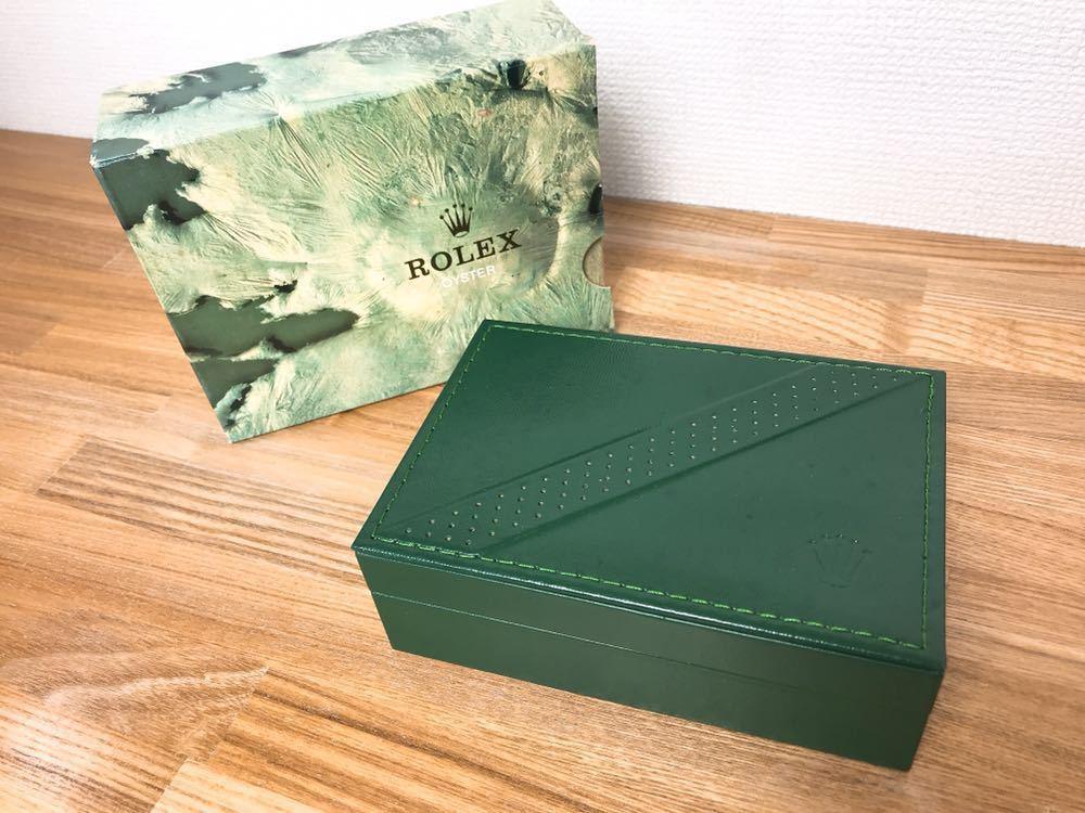 [2点セット] ROLEX ロレックス 純正 ヴィンテージ 腕時計ボックス 化粧箱 保存箱 空箱 冊子 カードケース ギャランティカード 赤・グリーン_画像5