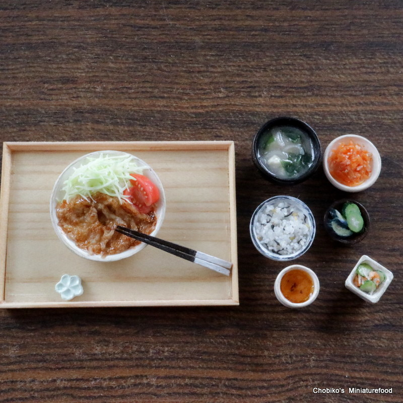ちょび子★ミニチュア豚肉の生姜焼き定食_画像6