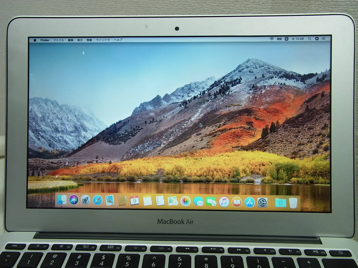 Apple11.6インチMacBook AirノートパソコンSSD128GB MC969J/A(11inch,Mid2011)macOS10.13.6High Sierra1.6GHz Corei5 2コア4GアップルA1370_画像3