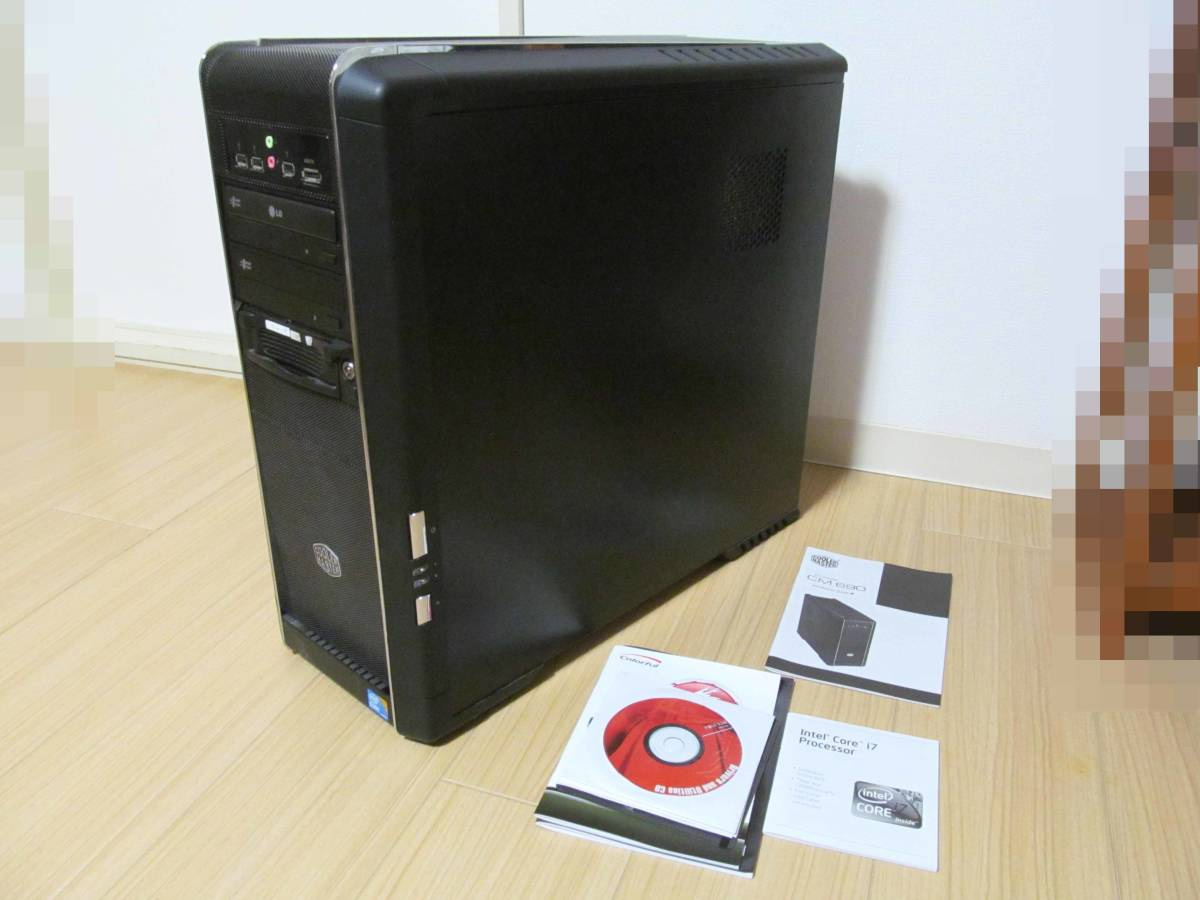 自作PC Core i7/2.8GHz/1TB/8GB/DVDマルチ×2/Windows10★USED現状渡し品★