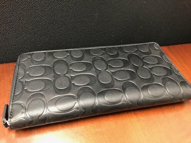 2eb21b704f8e 代購代標第一品牌- 樂淘letao - コーチCOACH ラウンドファスナー長財布レザーシグネチャーパスポートケース未使用保管