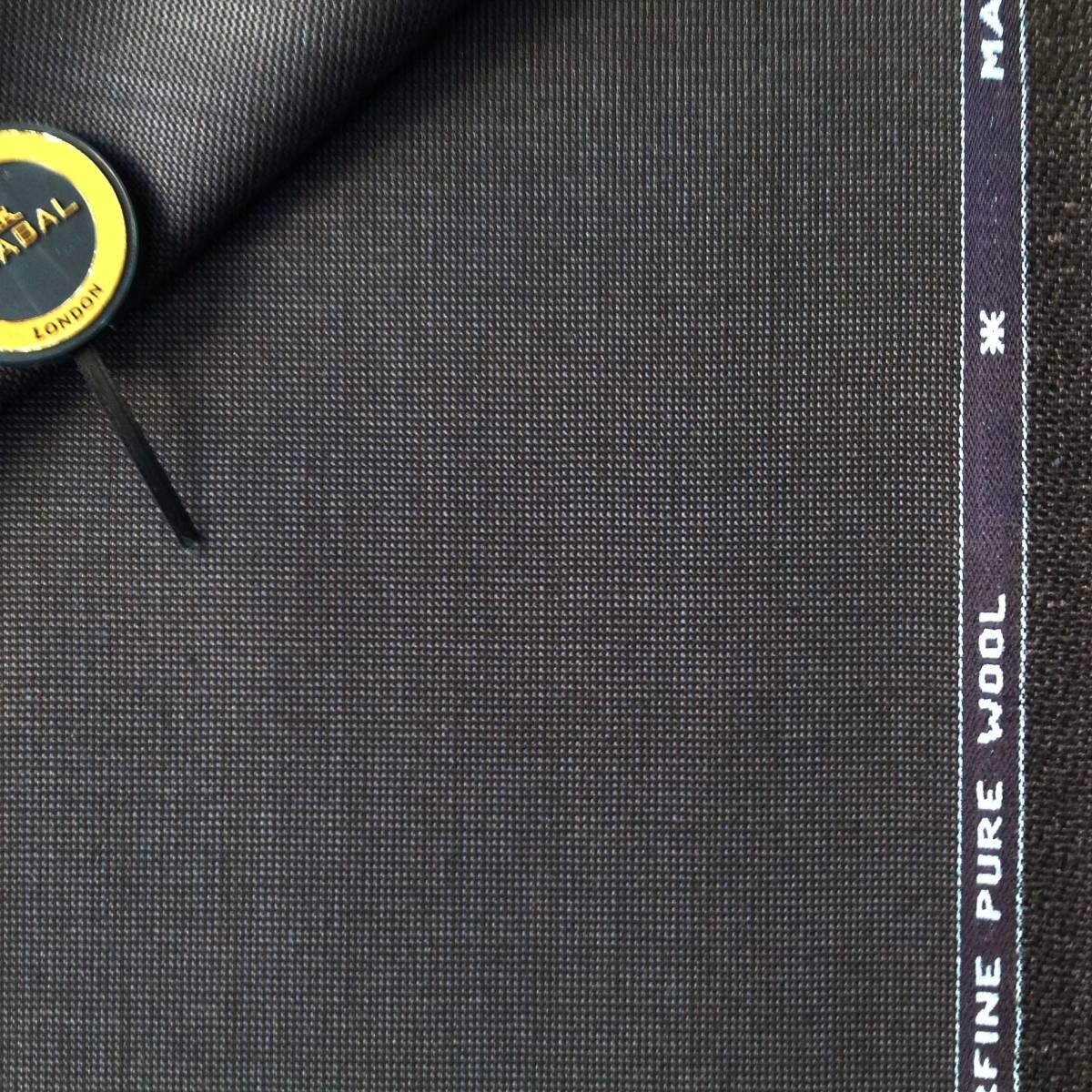 【服地】 スキャバル 紺系 織ネーム付 重さ1020g 3.2m 毛100%イギリス製  0123-3_画像1