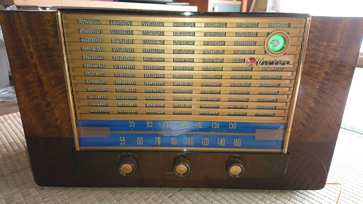 ビクター真空管ラジオ・綺麗です・普通に鳴ります・可動品