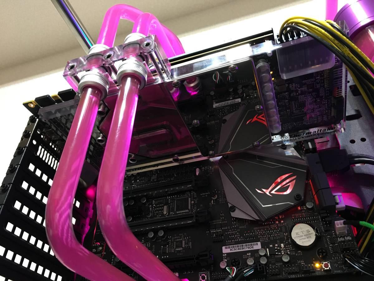 ハイエンド ワンオフカスタム 本格水冷 自作PC ゲーミング i7 8086K GTX1080 Ti メモリ16GB ASUS ROG MAXIMUS X APEX windows 10 Pro_画像5