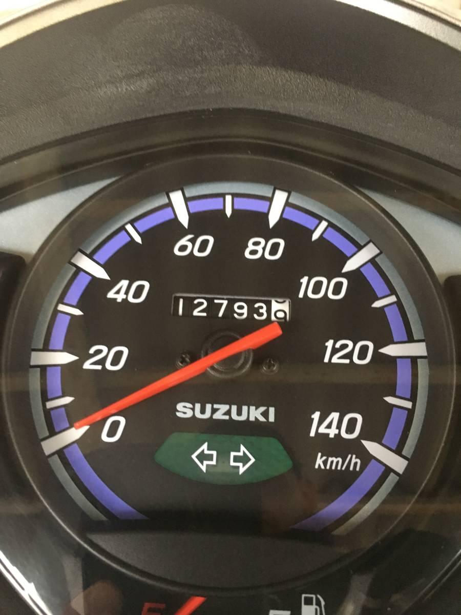 アドレス110 CE47A インジェクション、ノーマル車 走行13000キロ トップボックス付き_画像2