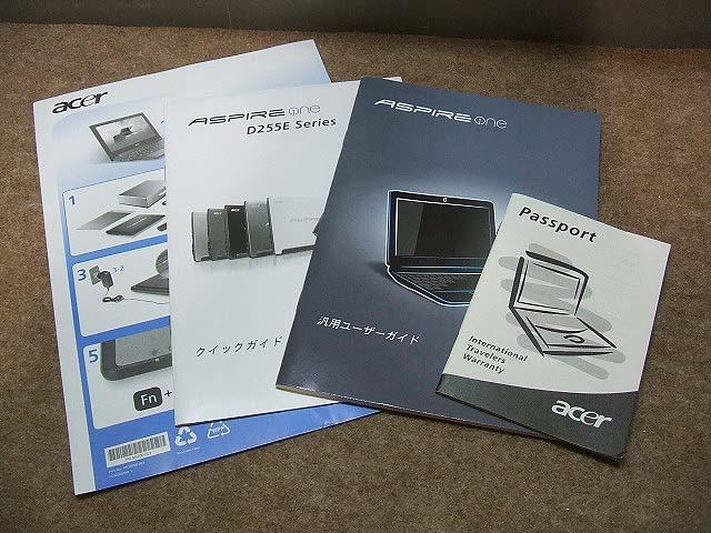 【ネットブック】acer Aspire one D255E Windows10 ACアダプタ付_画像6