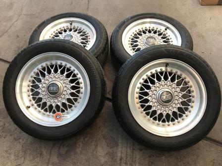 ボルボ用 超レア BBS 16インチ タイヤホイールセット⑤ 205/55R16