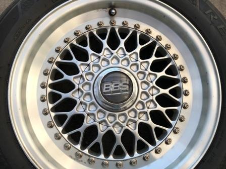 ボルボ用 超レア BBS 16インチ タイヤホイールセット⑤ 205/55R16_画像2