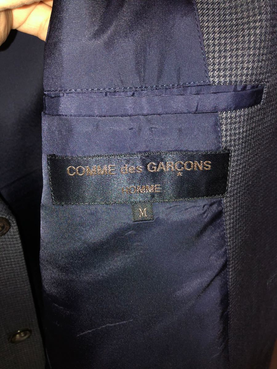 COMME des GARCONS HOMME セットアップスーツ 紺 サイズM 新品_画像6