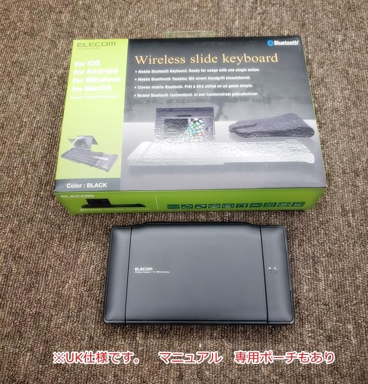 【管K039】★[中古]TK-FBP049E UK Layout Bluetooth ワイヤレスキーボード ELECOM_画像1