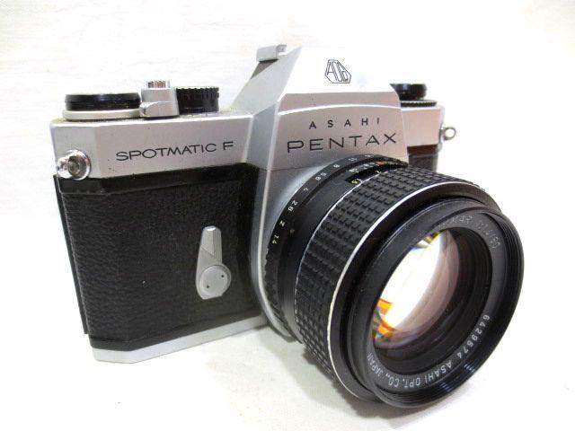 ■どっしり銀塩カメラ ASAHI PENTAX SPOTMATIC F マニュアル 一眼レフ☆ペンタックス SMC TAKUMAR F1.4 50mm 単焦点レンズ_画像2
