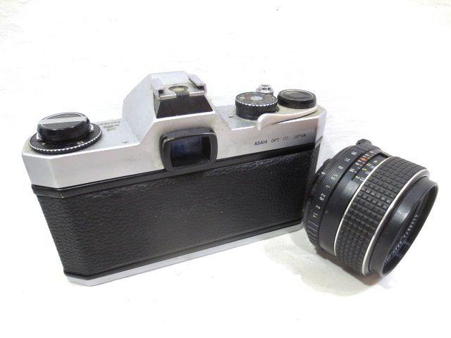 ■どっしり銀塩カメラ ASAHI PENTAX SPOTMATIC F マニュアル 一眼レフ☆ペンタックス SMC TAKUMAR F1.4 50mm 単焦点レンズ_画像4