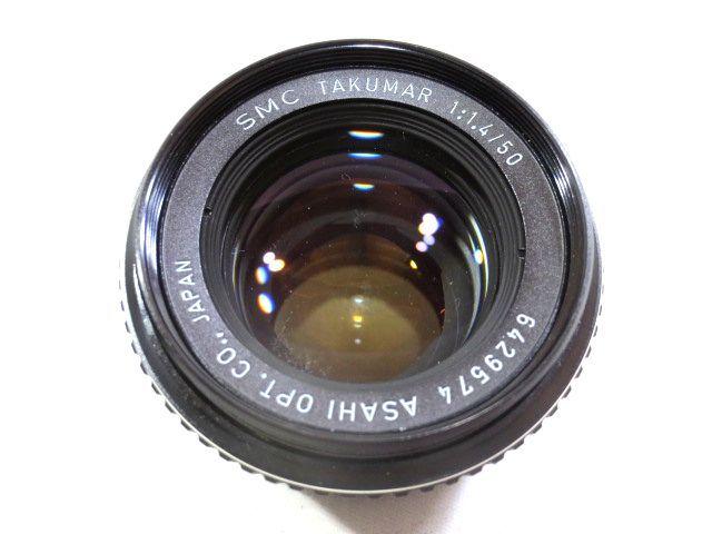 ■どっしり銀塩カメラ ASAHI PENTAX SPOTMATIC F マニュアル 一眼レフ☆ペンタックス SMC TAKUMAR F1.4 50mm 単焦点レンズ_画像6