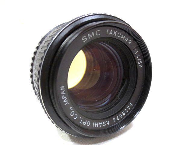 ■どっしり銀塩カメラ ASAHI PENTAX SPOTMATIC F マニュアル 一眼レフ☆ペンタックス SMC TAKUMAR F1.4 50mm 単焦点レンズ_画像7