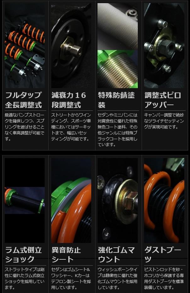 SHORINオリジナル車高調 HONDA S2000(AP1/2)用_画像6