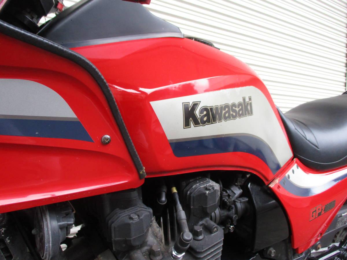 ■1983年11月製造 空冷Zシリーズ最強エンジン!カワサキGPZ1100後期ノンレスオリジナル エンジン実働ベース車!№467_画像2