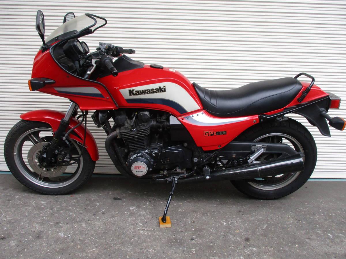 ■1983年11月製造 空冷Zシリーズ最強エンジン!カワサキGPZ1100後期ノンレスオリジナル エンジン実働ベース車!№467_画像8