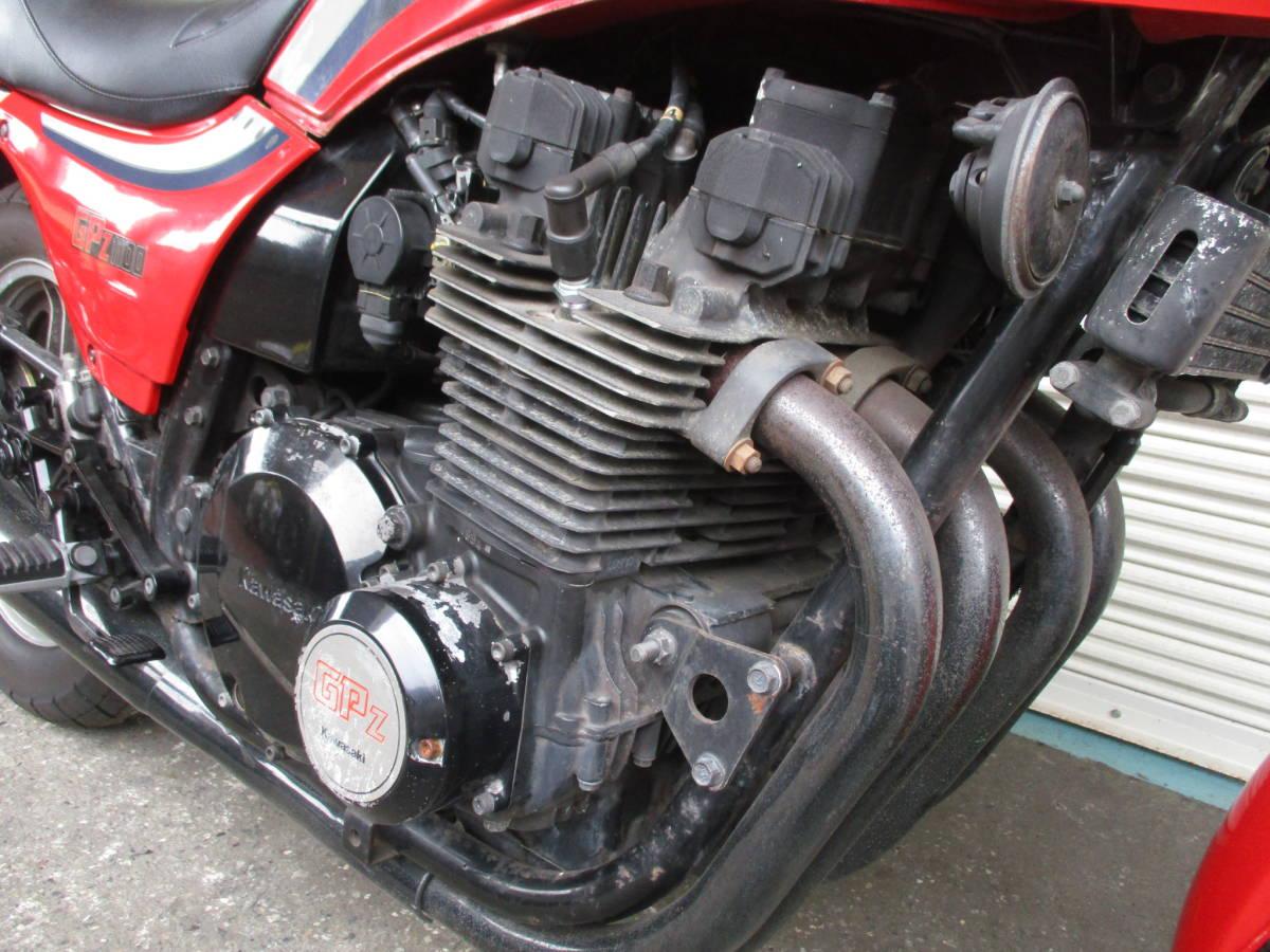 ■1983年11月製造 空冷Zシリーズ最強エンジン!カワサキGPZ1100後期ノンレスオリジナル エンジン実働ベース車!№467_画像4