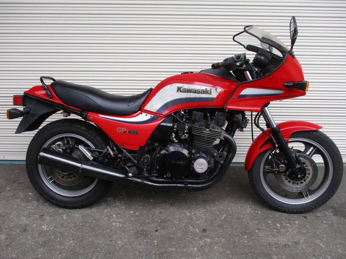 ■1983年11月製造 空冷Zシリーズ最強エンジン!カワサキGPZ1100後期ノンレスオリジナル エンジン実働ベース車!№467