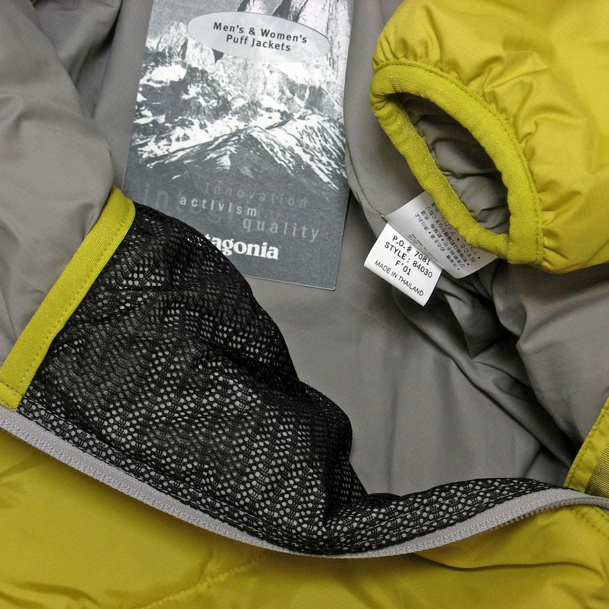 廃盤 希少 新品 未使用 2001年 Patagonia パフジャケット パタゴニア M グリーン ビンテージ / ファイヤーボール ダスパーカ パフボール_画像6