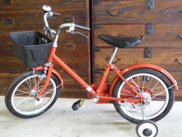 無印良品 とてもカワイイ真っ赤な 子供用 自転車 16インチ 使用頻度非常に少ない
