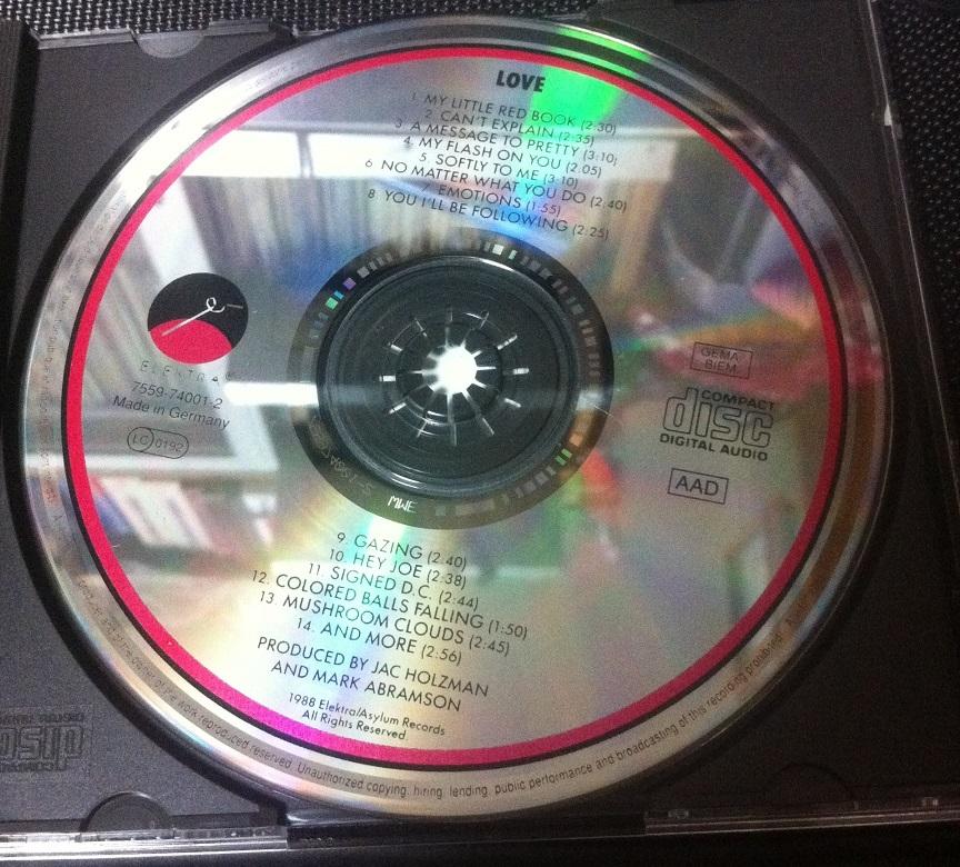 60'sサイケの名盤★Love ラヴ 1stアルバム 輸入盤CD★アーサー・リー ★ガレージロック_画像3