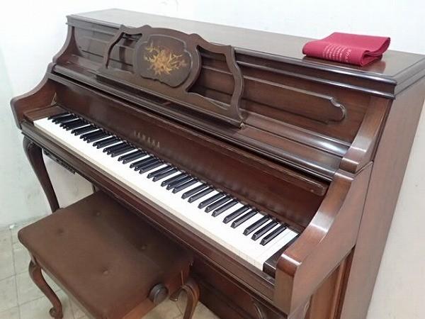 1903r/家1O□YAMAHA アップライトピアノ 花柄象嵌 W100WnC/テクニクス SM-ZS30 消音ピア