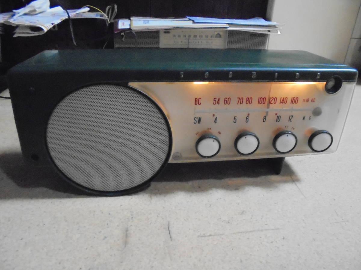 珍品レトロ真空管式 東芝6ZB-208 うぐいすLS マジックアイ付5球スーパーラジオ